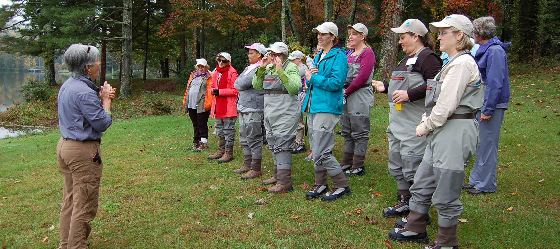 group-in-waders